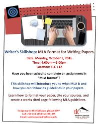 Writers Skillshop Mla Format For Writing Papers Palomar College