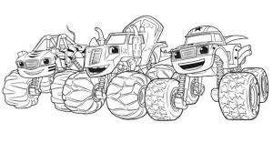 Blaze And The Monster Machines Coloring Pages Free Coloring Pages