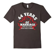 cool t shirt 44th wedding anniversary gifts for herhim pl