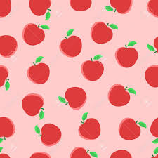 Apple Pattern Interesting Vector Seamless Pattern With Red Apples Print Pattern Apple