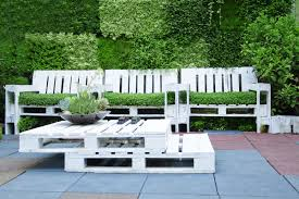 outdoor patio furniture made out of recycled wooden pallets shutterstock