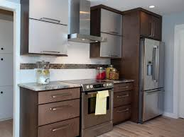 Cool Design Of The Stainless Steel Kitchen Cabinets With Brown