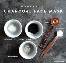 homemade charcoal face mask recipe