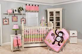 kids bedroom nursery room ideas for baby girl gray wal matching tie back white color