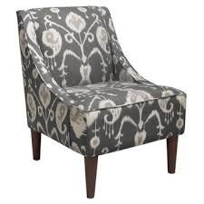 ikat accent chair. Fine Accent Quinn SwoopArm Chair Smoke Gray Ikat Accent U0026 Occasional Chairs With Ikat Chair