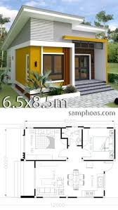 Cottage Design Plans Small Home Design Plan 6 5x8 5m With 2 Bedrooms Small