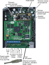 """alphatech ipdp slim 1 button camera 21ipc voip door entry panel the connection of relay contact terminals is shown on fig 1 the """"no"""" designation means an idle disconnected contact """"com"""" means a pin contact middle"""