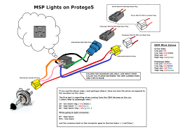 protege5 headlight front end wiring questions use this diagram and just follow it carefully msp headlights