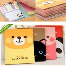 Kawaii Post It Style Memo Bookmark Flags And Note Pad Set 8 Pack