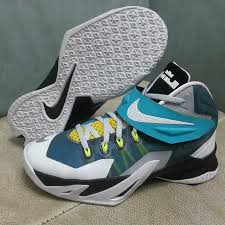 lebron 8 soldier. nike lebron zoom soldier 8 white blue yellow black (3)