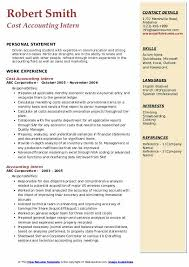 Accounting Intern Resume Samples Qwikresume