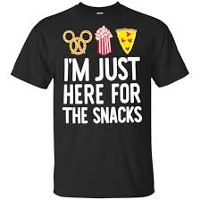Mickey I Am Just Here For The Snacks Youth Kids T Shirt