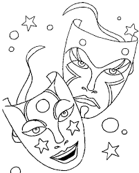 Small Picture Comedy Tragedy Mask As Mardi Gras Symbol Coloring Page Comedy