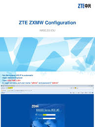 Sometimes you need your router web interface ip address to change security settings. Zte Nr8120 Configuration Pptx Ip Address Communications Protocols