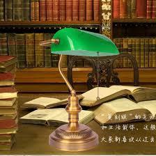 bank lamp vintage green cover table lamp bedroom bedside study lamps retro bedroom bedside lighting