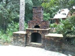outdoor fireplace and pizza oven combination