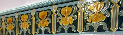 wall tiles art nouveau
