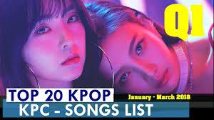 Top 20 Kpop Songs List 1st Quater 2018 Kpop Chart Kpc