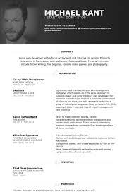 Shining Junior Web Developer Cv Charming Ideas Resume Example Cv