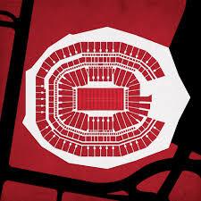 Atlanta Falcons Seating Chart With Rows Mercedes Benz Stadium Atlanta Falcons Football Stadium
