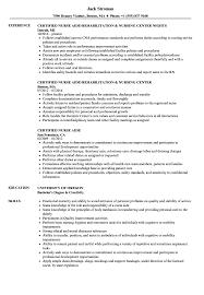 Sample Certified Nursing Assistant Resume Certified Nurse Aide Resume Samples Velvet Jobs