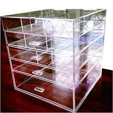amazon cq acrylic large beauty cube 5 tier drawers acrylic cosmetic organizer handmade multi function makeup organizer storage 10 x10 x11 pack of 1