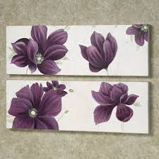 gray walls in a bathroom purlpe accents home floral whispers canvas art set purple set of two on canvas wall art purple flowers with floral whispers canvas wall art set pinterest whisper canvases