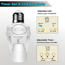 Light Bulb Motion Sensor Adapter Luxon Infrared Motion Sensor Light Bulb E26 E27 Base
