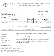 Export Proforma Invoice Templates In Excel: Ex Works, Fob, Cif ...