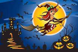 Coloriage Les Sorci Res D Halloween Sur Hugolescargot Com