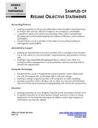Skillful Resume Objectives Samples 15 Great Objective Resume Example