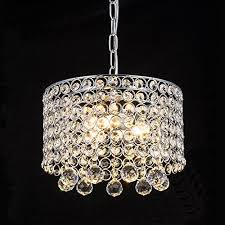 modern crystal chandelier 3 light flush mount ceiling light fixture 9 8inches diameter for hallway dining room bedroom living room kitchen