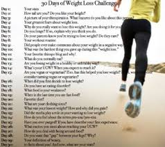 30 Day Weight Loss Challenge
