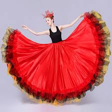 Online Shop Spanish Flamenco <b>Skirts Women</b> Flamengo <b>Dance</b> ...