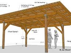 patio cover plans free standing. Plain Patio 15u0027 X 23u0027 8 For Patio Cover Plans Free Standing WoodsShop