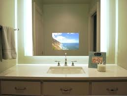 bathroom mirror with tv illuminated television mirror contemporary bathroom bathroom mirror tv diy