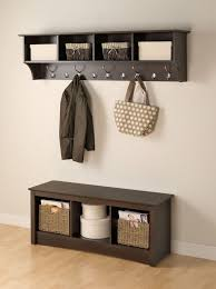 Entryway Shelf And Coat Rack Floating Entryway Shelf Coat Rack White Big storage needs in a 36