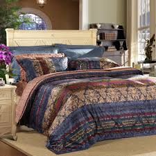 dark gray and tan classic meval royal style indian tribal pattern print 100 egyptian cotton full queen size bedding sets
