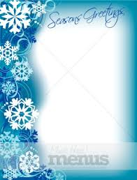 christmas menu borders winter border christmas menu images