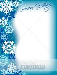 Winter Border Christmas Menu Images