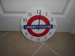 london underground classic logo wall