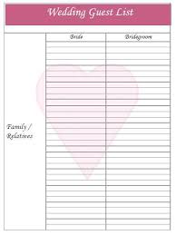 Printable Wedding Guest List Organizer Wedding Guest List Planner Download And Create Straight