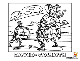 Small Picture David And Goliath Colouring Page Bebo Pandco