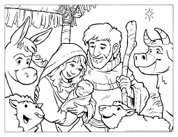 Small Picture Christmas Coloring Pages Pictures Christmas Nativity Scene