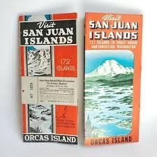 Orcas Island Tide Chart Details About Vtg 1944 Travel Brochure San Juan Orcas Islands Anacortes Puget Sound Washington