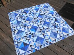 Blue Triangle Quilt | Blue Quilts | Pinterest | Blue quilts ... & Blue Triangle Quilt Adamdwight.com