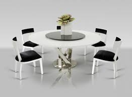 round dining table with lazy susan. Modern Round White Dining Table With Lazy Susan