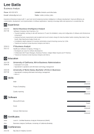 Business Analyst Modern Resume Template Business Analyst Resume Sample Guide 20 Examples