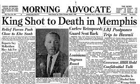 Image result for King was assassinated in 1968.
