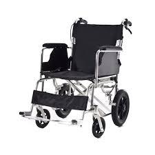 Silla de ruedas manual de aluminio plegable para viajes. Loading zoom